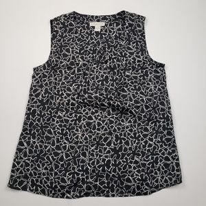 Coldwater Creek Womens Sleeveless Floral Blouse